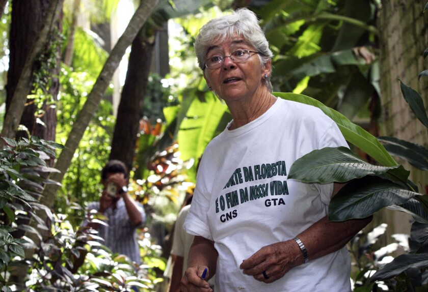 U.S.-born nun Dorothy Stang in Belem, northern Brazil, on Feb. 12, 2004.