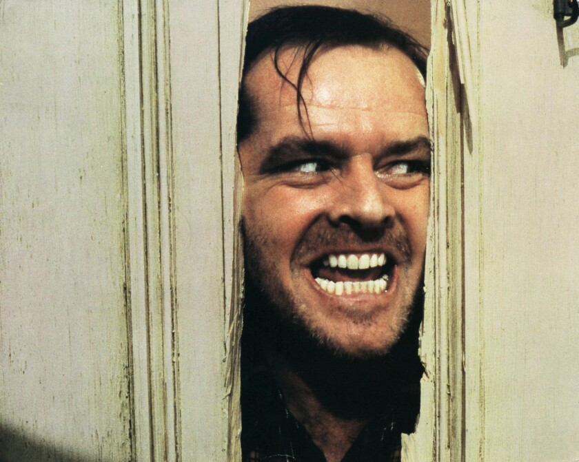 "Jack Nicholson in ""The Shining"" (1980)."