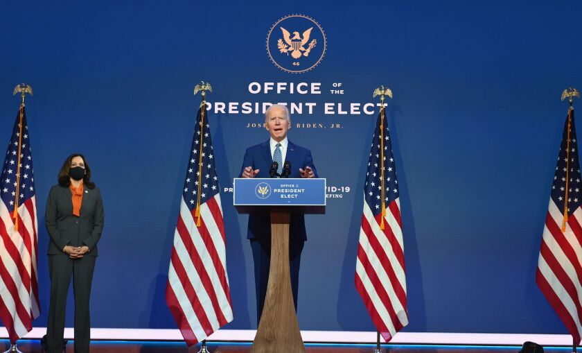 Vice-President-elect Kamala Harris and President-elect Joe Biden.