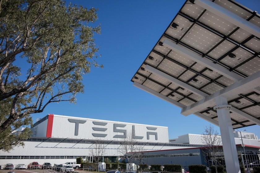 Tesla's Fremont, Calif., plant.