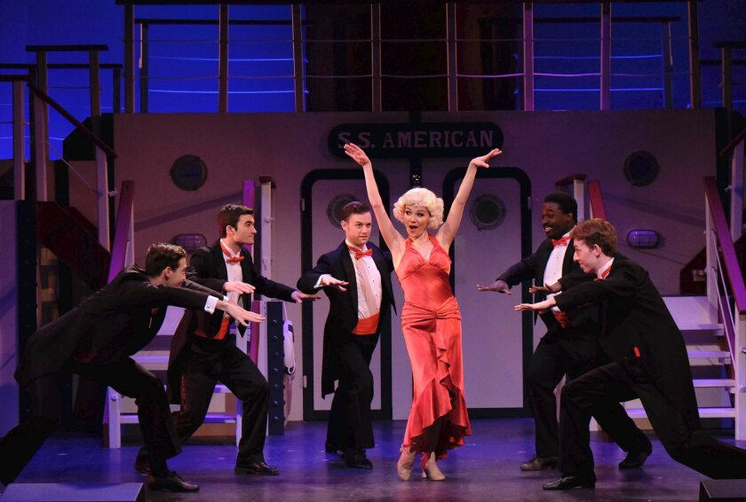 "April Henry and company in the Welk Resorts Theatre production of ""Anything Goes."""