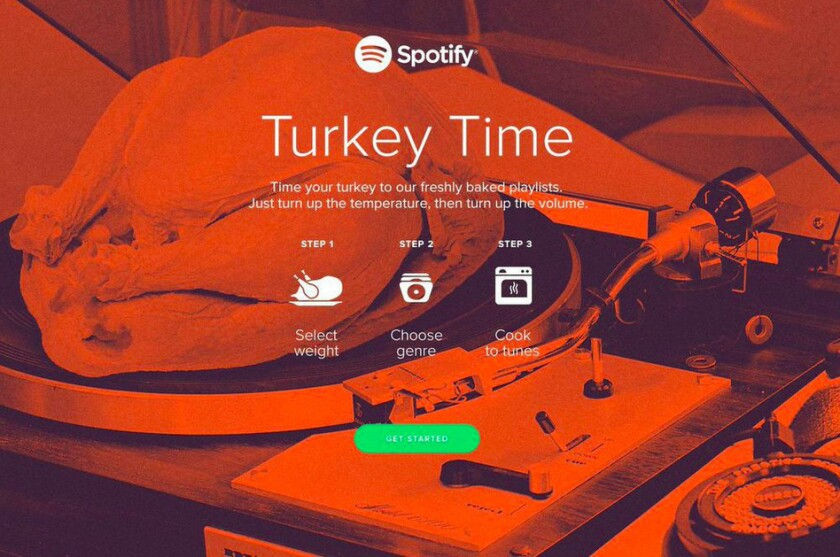 Spotify launches Turkey Time for Thanksgiving