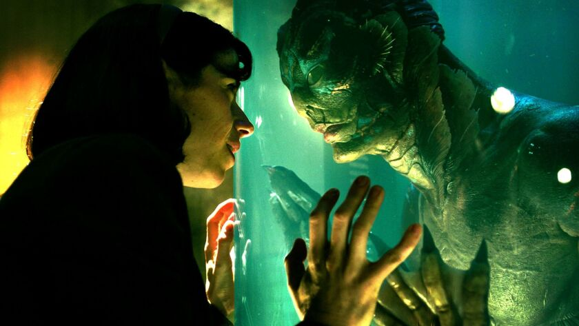 """Sally Hawkins and Doug Jones appear in a scene from """"The Shape of Water,"""" released by Fox Searchlight."""