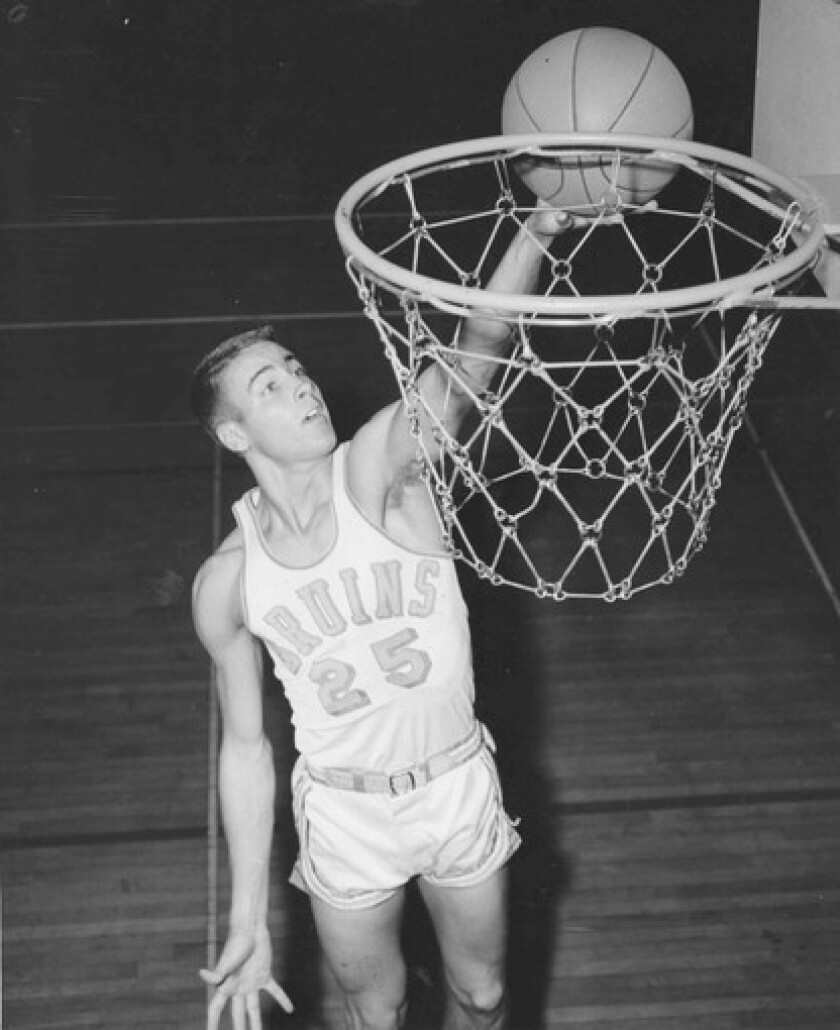 Gail Goodrich scored 42 points to lead UCLA to its second NCAA championship as the Bruins beat Michigan 91-80 in the 1965 tournament final.