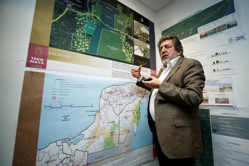 El director del Fondo Nacional de Fomento al Turismo (Fonatur), Rogelio Jiménez Pons, habla durante una entrevista con Efe. EFE/Archivo