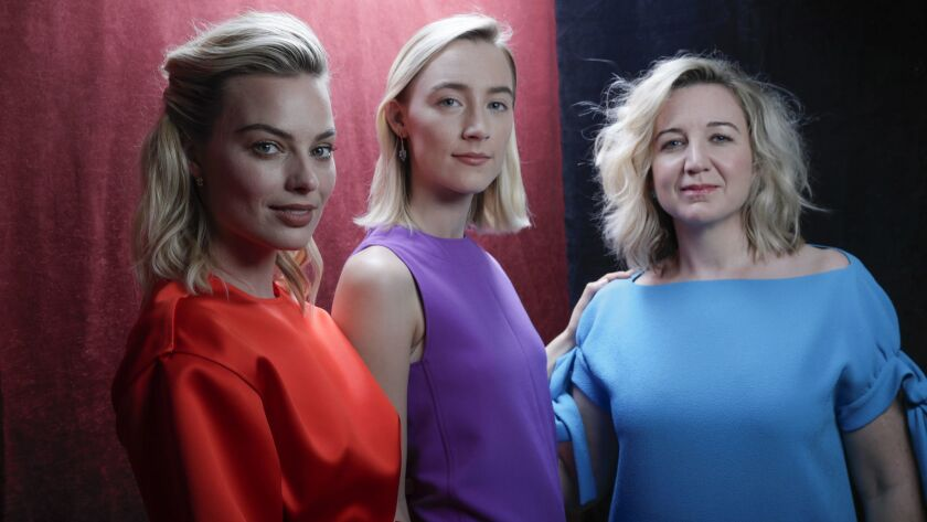 "Margot Robbie, from left, plays a cautious Elizabeth while Saoirse Ronan is the titular willful royal in Josie Rourke's film directing debut, ""Mary Queen of Scots."""