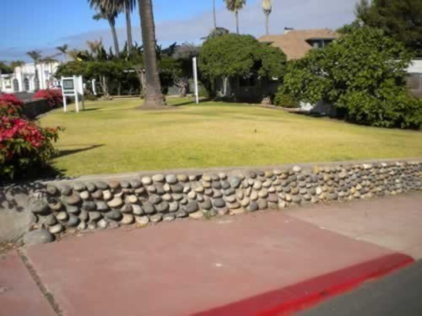 Cobblestones can still be seen on walls, homes and walkways throughout La Jolla. Courtesy