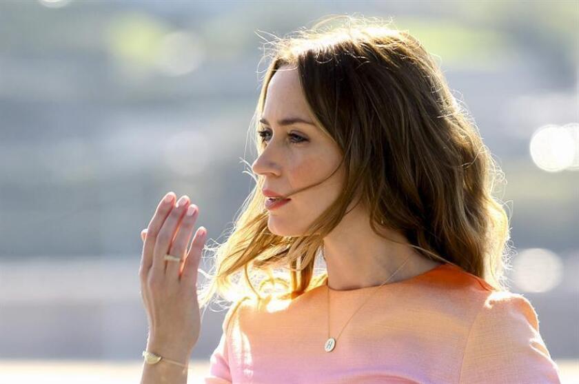 """La actriz Emily Blunt posa antes de presentar su película """"Sicario"""", del director Denis Villeneuve. EFE/Archivo"""