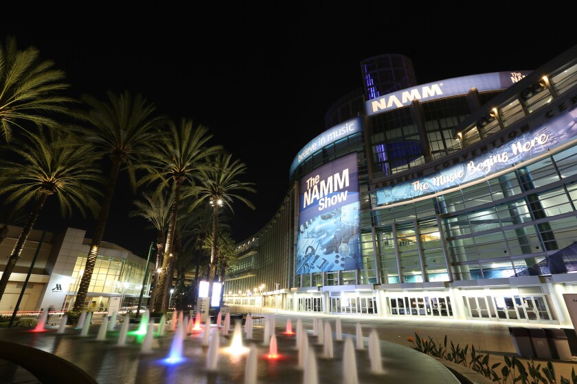 The NAMM Show at the Anaheim Convention Center will be dark in 2021