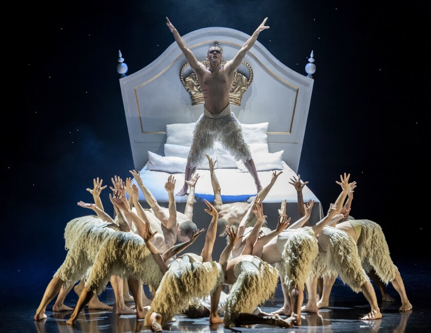"Will Bozier is the Swan in Matthew Bourne's ""Swan Lake,"" back at the Ahmanson Theatre in L.A."