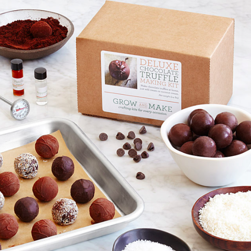 Deluxe Chocolate Truffle Making Kit. (Uncommon Goods)