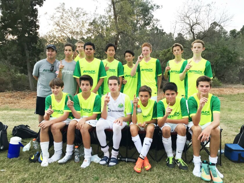 The Attack U15 Team went undefeated and secured first place in its first season. Courtesy photo