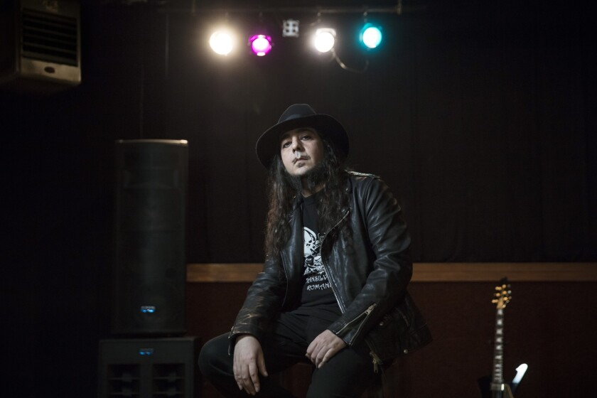 LOS ANGELES, CALIFORNIA - MAR. 1, 2019: Daron Malakian, singer and guitarist with the bands Scars on