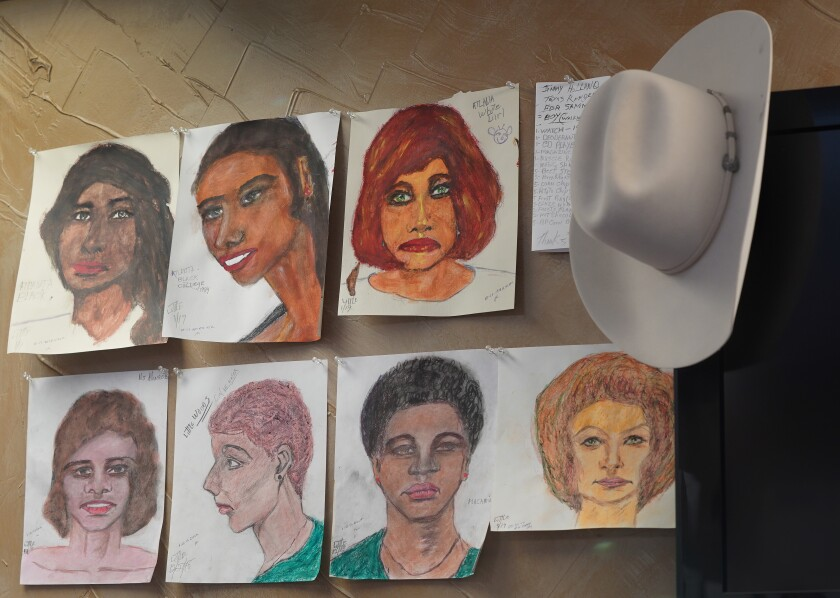 Samuel Little's paintings of his victims