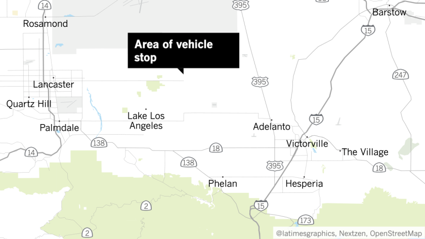 Area of vehicle stop
