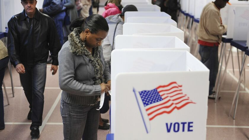 People vote early in Cleveland-Ohio