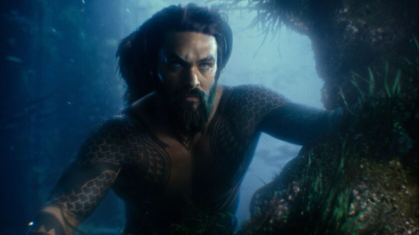 """Jason Momoa as Aquaman in """"Justice League."""" Warner Bros. Pictures will come to San Diego Comic-Con armed with a new """"Aquaman"""" trailer."""