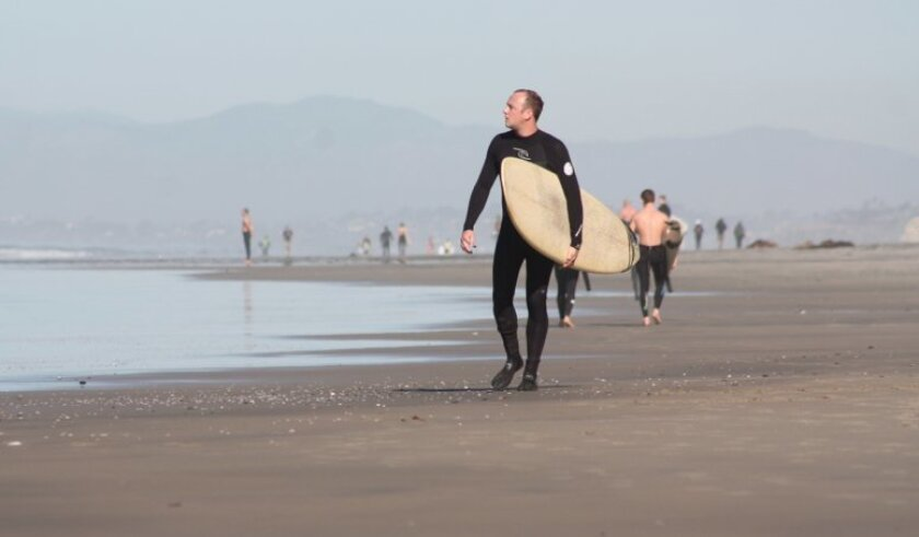 Archive image from a recent morning at Blacks Beach.