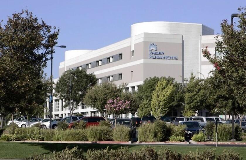 Above, a Kaiser hospital in Fresno.