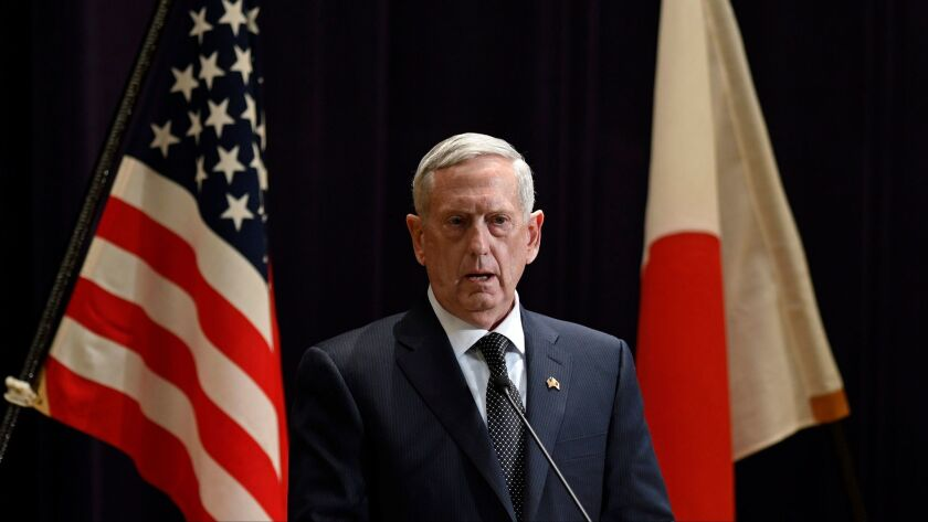 US Secretary of Defense James Mattis visits Japan