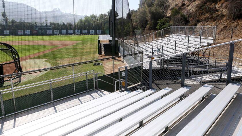 Bleachers at Stengel Field, across from Glendale Community College in Glendale on Tuesday, Oct. 23,
