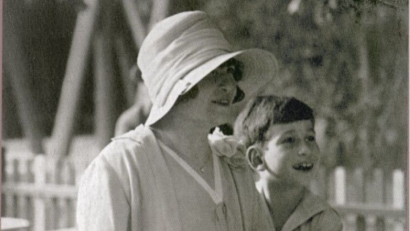 A photo provided by the family of Claude Cassirer as a young boy with his grandmother, Lilly Cassir