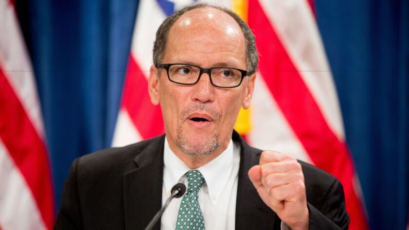Labor Secretary Thomas E. Perez is one of the more high-profile candidates to lead the Democratic National Committee.
