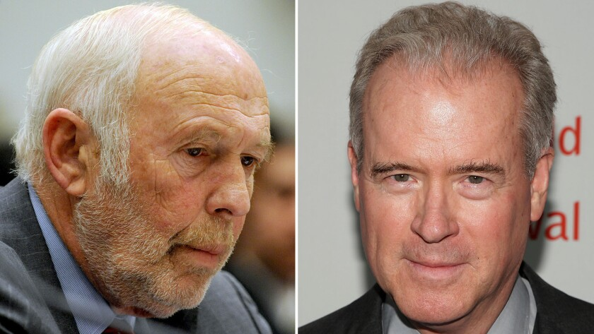 James Simons, left, and Robert Mercer helped turn Renaissance Technologies into one of Wall Street's top-performing hedge funds. Both are also among the nation's biggest political donors, Simons to liberal groups and Mercer to conservative causes.