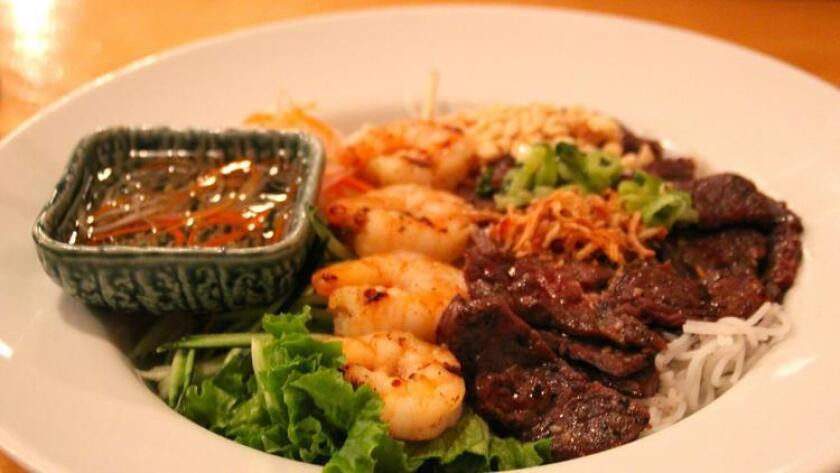 Moo-moo shrimp from Mignon Pho + Grill in Kearny Mesa. (/ Amy T. Granite)
