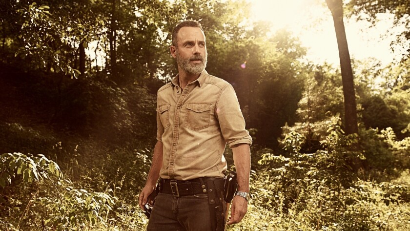 "Andrew Lincoln as Rick Grimes in a scene from ""The Walking Dead."""