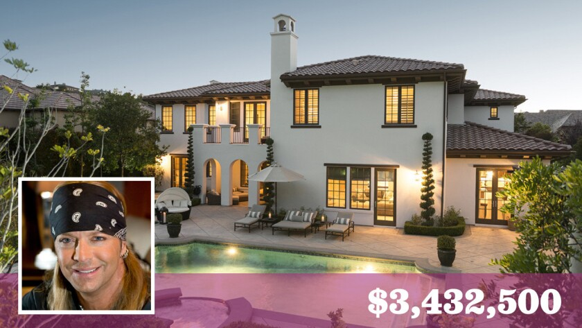 Bret Michaels of Poison fame has sold his home in a gated Calabasas community for about $3.43 million.