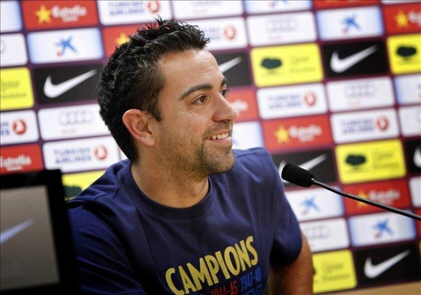 El centrocampista del F.C. Barcelona, Xavi Hernández. EFE/Archivo