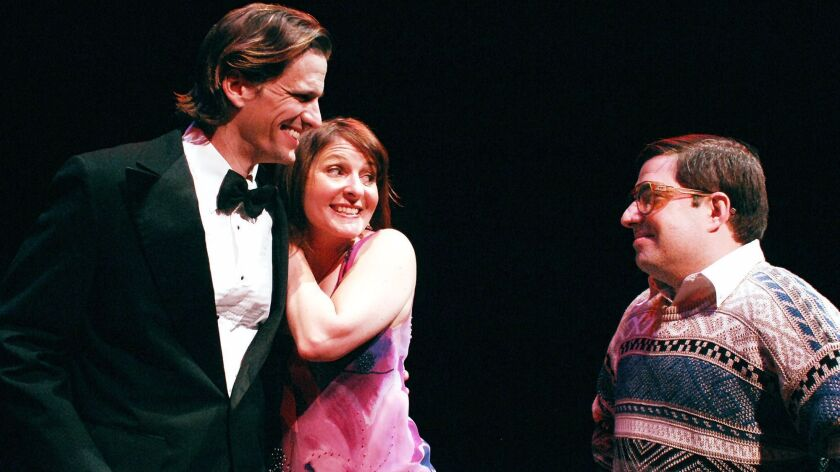 "Ross Hellwig, Erika Beth Phillips and Omri Schein (from left) star in Lamb's Players Theatre's ""Beau Jest."""