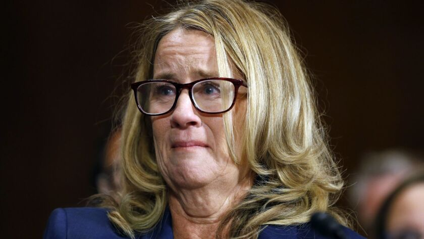 """Dr. Christine Blasey Ford's testimony was termed """"compelling"""" by pundits, to critic's dismay."""