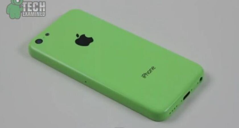 A screenshot of a YouTube video that claims to show the rumored plastic iPhone, which could be called the iPhone 5C.