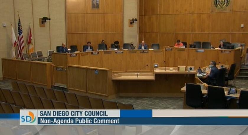 The San Diego City Council meeting on June 2, 2020.