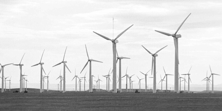 Another wind energy project in Wyoming, this one the SeaWest facility in Arlington, Wyo.