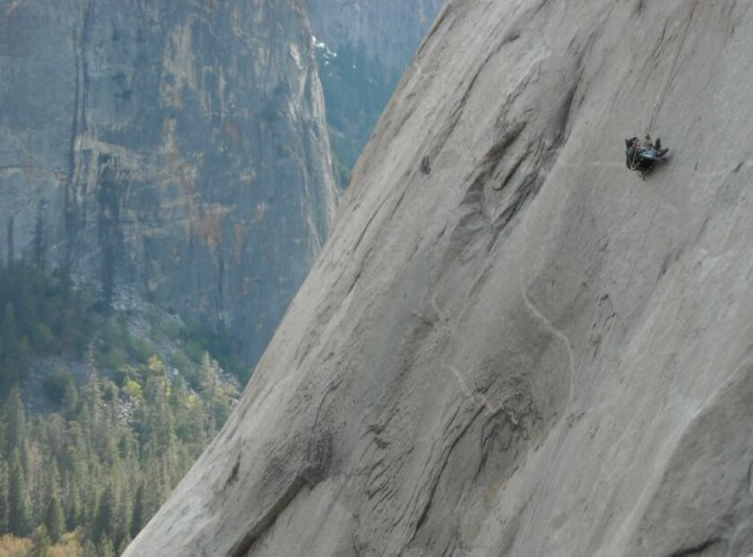 Stephen Wampler trains on El Capitan.