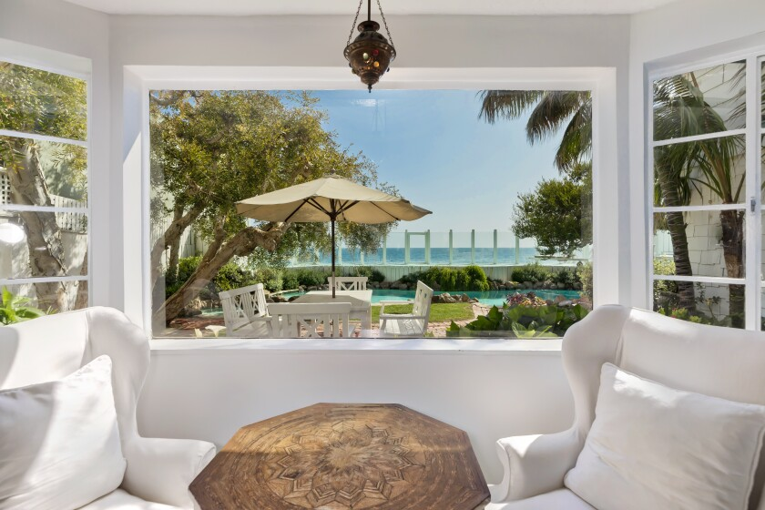 The Malibu Colony compound is one of just eight properties in the community with a private swimming pool.