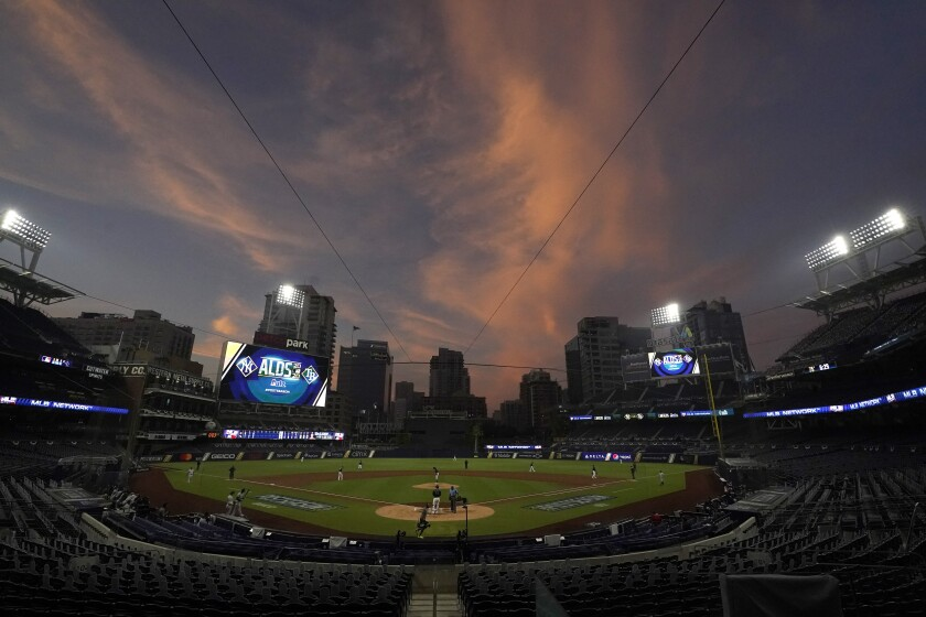 While the Yankees and Rays played Tuesday at Petco Park, the Padres faced the Dodgers 1,200 miles away in Arlington, Texas.