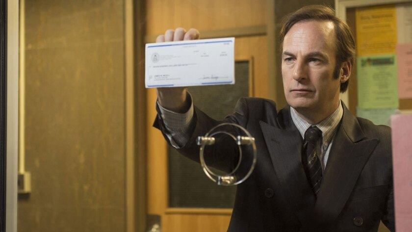 "Bob Odenkirk plays Saul Goodman in the AMC series ""Better Call Saul."""