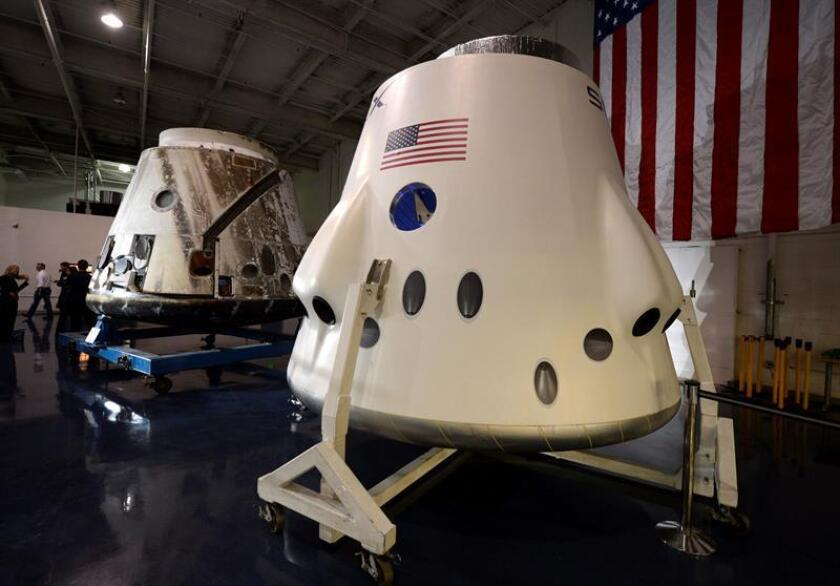 La cápsula Space X Dragon que trasportará a un grupo de astronautas al espacio. EFE/Archivo