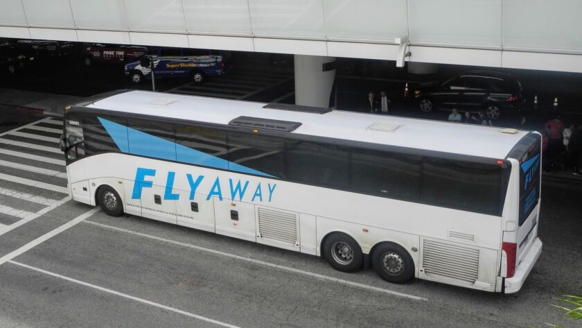 The FlyAway bus, one of the best deals around for transportation to the airport. Credit: Catharine H