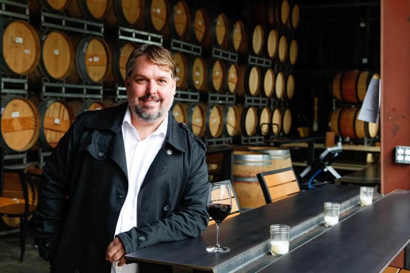 SAN DIEGO, CA January 11th, 2017 | Wine maker Adam Carruth at the urban winery location of Carruth Cellars on Wednesday in Carlsbad, California. | (Eduardo Contreras / San Diego Union-Tribune)