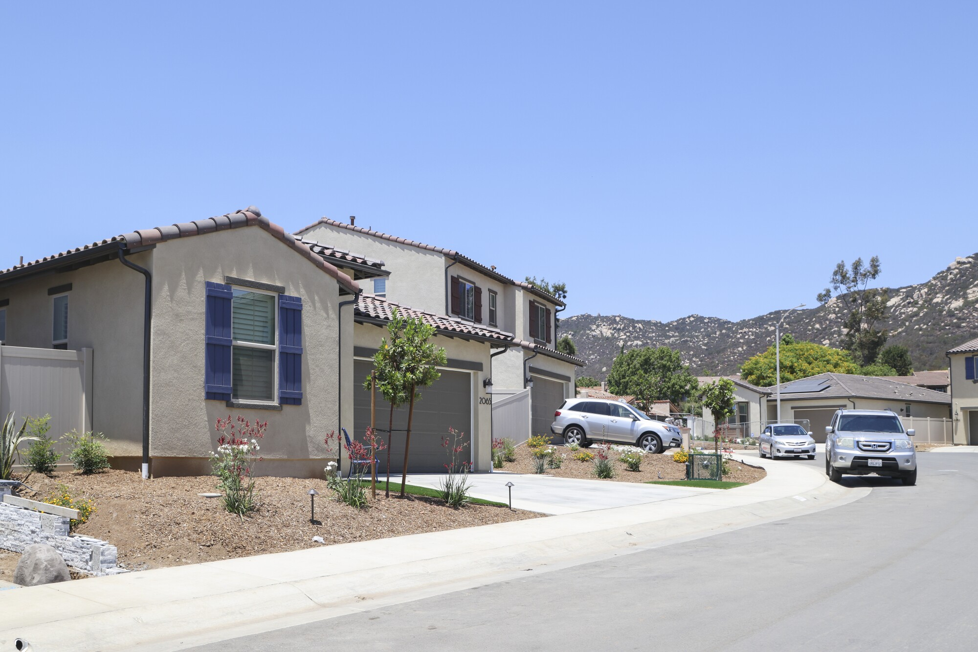These are some of the 380 homes at the Canopy Grove housing development on Tuesday, July 20, 2021 in Escondido, CA.
