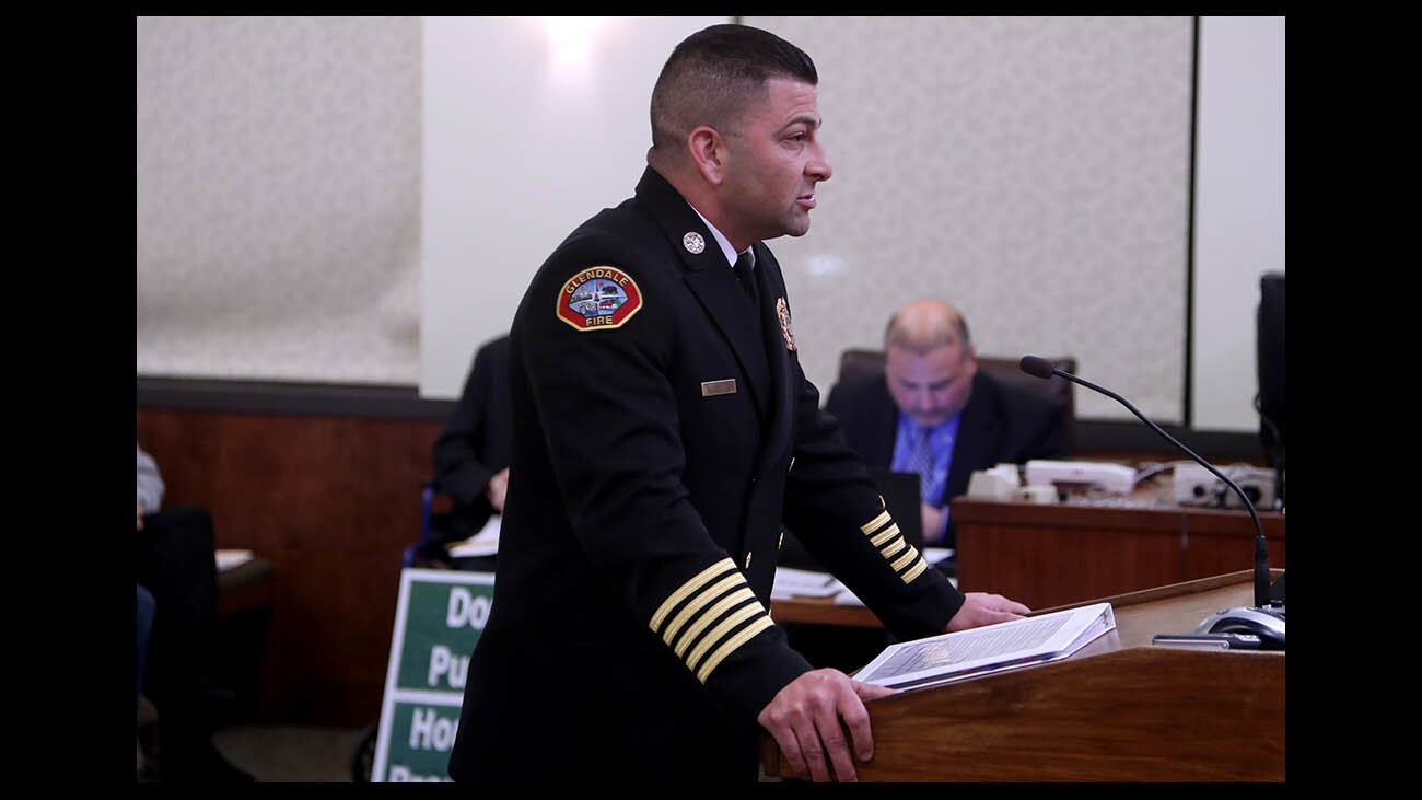 Photo Gallery: City council meeting: Glendale appoints new fire chief, residents for and against rent control