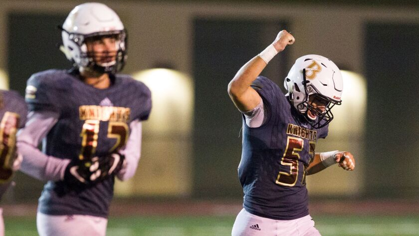 Bishop's has had plenty to cheer about this season. The Knights improved to 14-0 with Saturday's state playoff win.