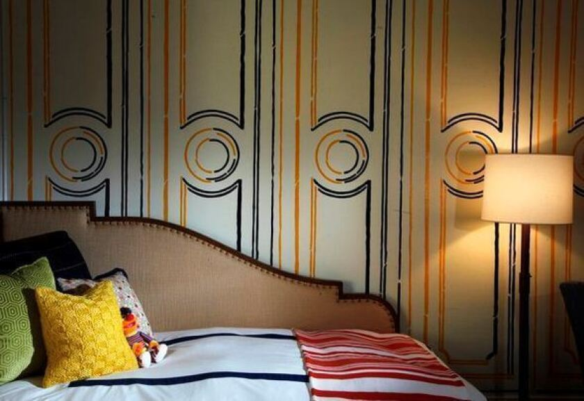 Create Your Own Wood Paneling With Acetate Stencil Los Angeles Times