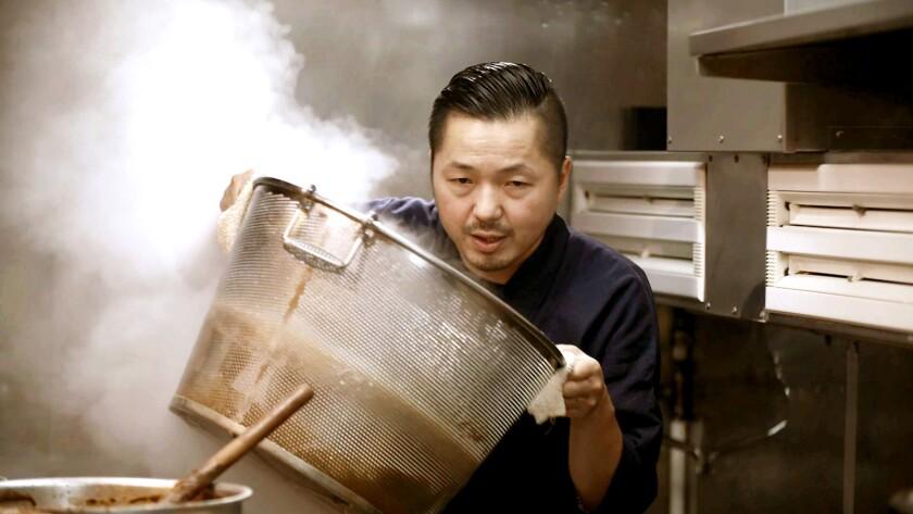 "Chef Osamu Tomita in the documentary ""Ramen Heads."""