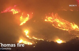 Raw video: Thomas fire burns through La Conchita